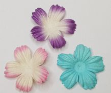 100 x 2.5 cm 2 tone COLOUR DAISIES Petals Mulberry Paper Flowers (3 colours)